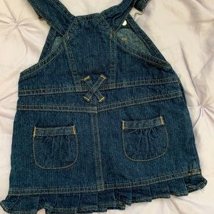 Arizona Jean Company Dresses - size 3-6 month denim overall dress  MUST BUNDLE!